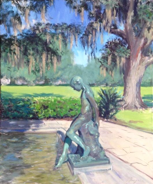"""Fountain  oil on canvas  24"""" x  20"""""""