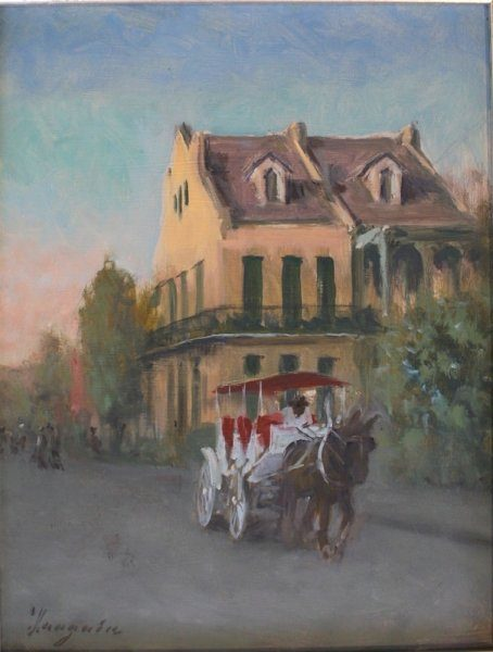 "End of Day (French Quarter)  oil 14""x11"""