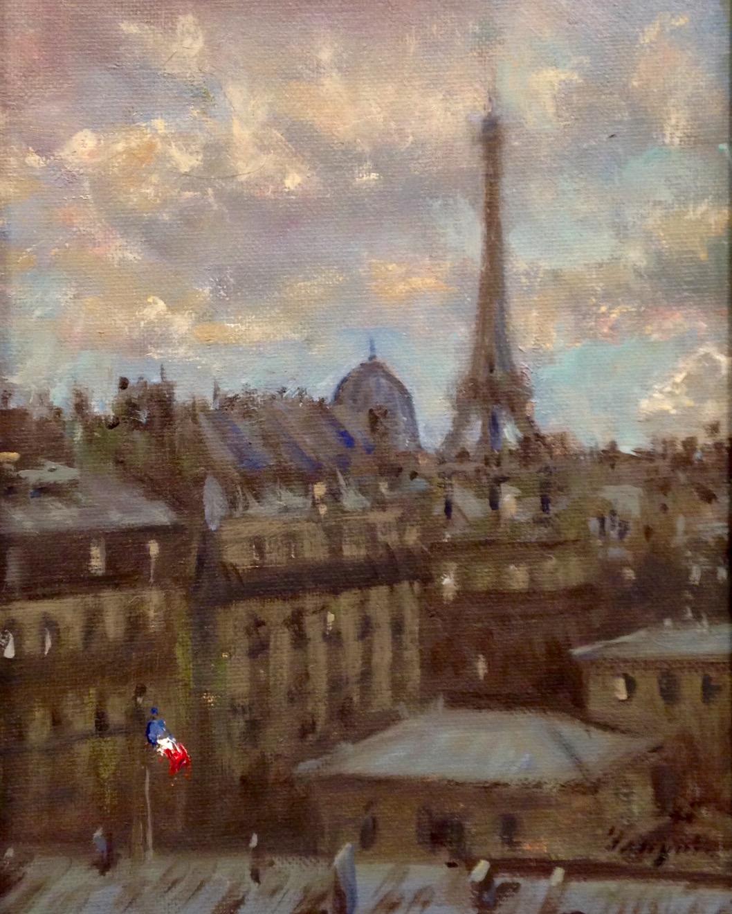 """""""Eiffel Tower"""" o/c  10"""" x 8"""""""